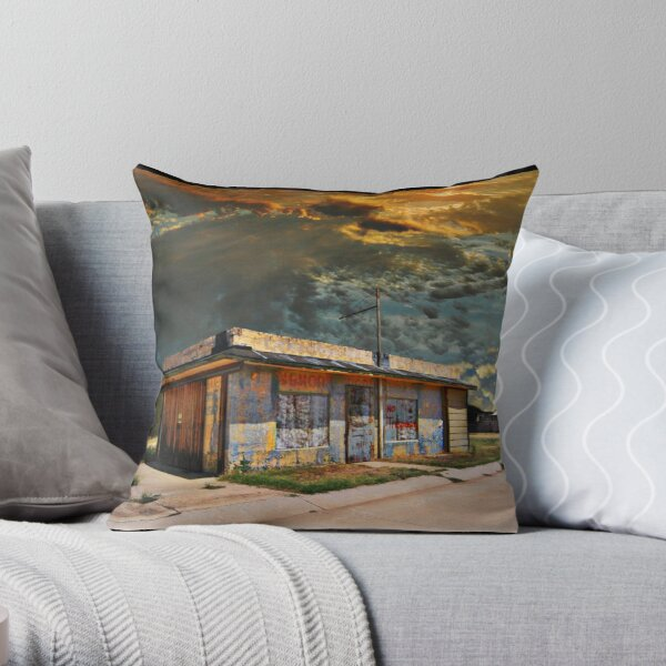Jackson Mississippi Sky looms over McLean Texas Throw Pillow