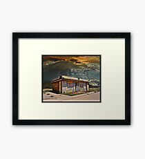 Jackson Mississippi Sky looms over McLean Texas Framed Art Print