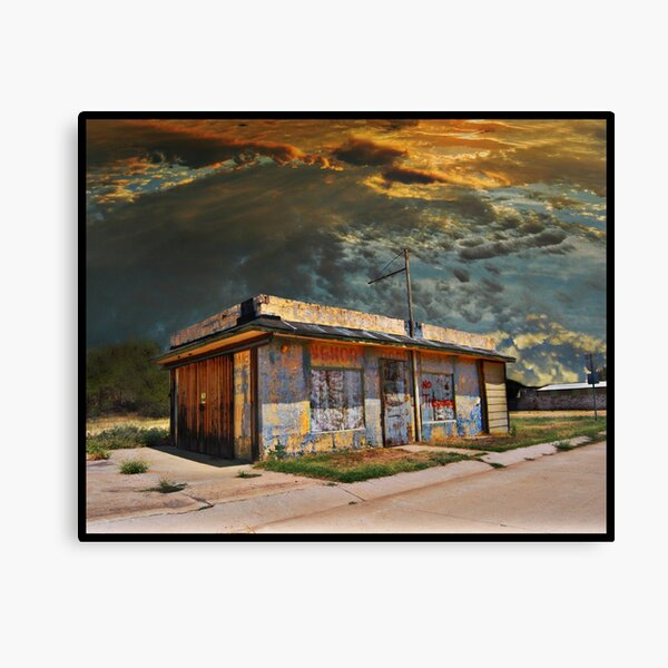 Jackson Mississippi Sky looms over McLean Texas Canvas Print