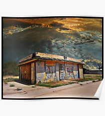 Jackson Mississippi Sky looms over McLean Texas Poster