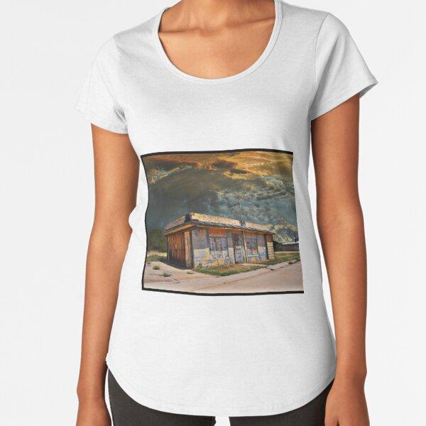Jackson Mississippi Sky looms over McLean Texas Premium Scoop T-Shirt