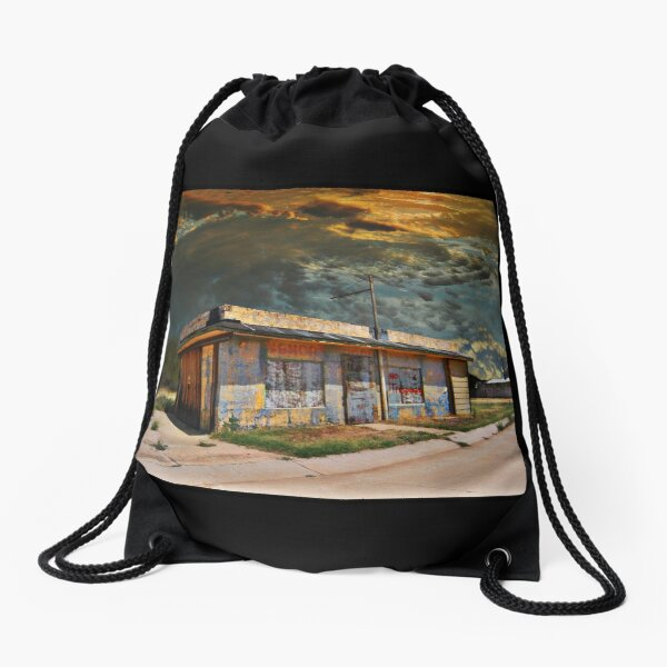 Jackson Mississippi Sky looms over McLean Texas Drawstring Bag