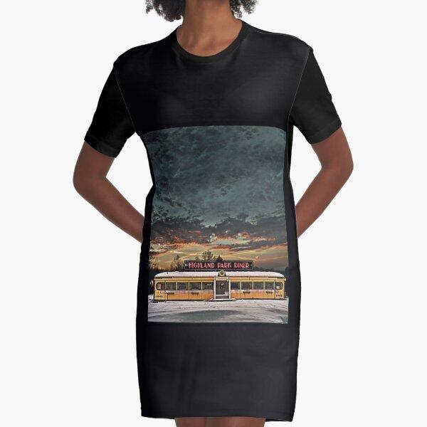 Vicksburg Mississippi Sky over the Highland Park Diner, Rochester Graphic T-Shirt Dress