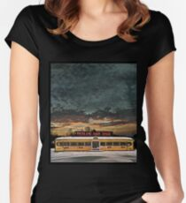 Vicksburg Mississippi Sky over the Highland Park Diner, Rochester Women's Fitted Scoop T-Shirt