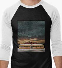 Vicksburg Mississippi Sky over the Highland Park Diner, Rochester Baseball ¾ Sleeve T-Shirt