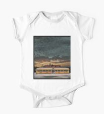 Vicksburg Mississippi Sky over the Highland Park Diner, Rochester Short Sleeve Baby One-Piece