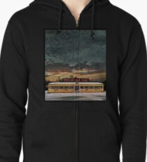 Vicksburg Mississippi Sky over the Highland Park Diner, Rochester Zipped Hoodie