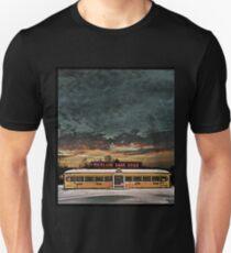 Vicksburg Mississippi Sky over the Highland Park Diner, Rochester Slim Fit T-Shirt