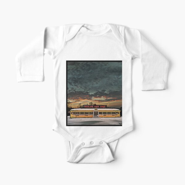 Vicksburg Mississippi Sky over the Highland Park Diner, Rochester Long Sleeve Baby One-Piece