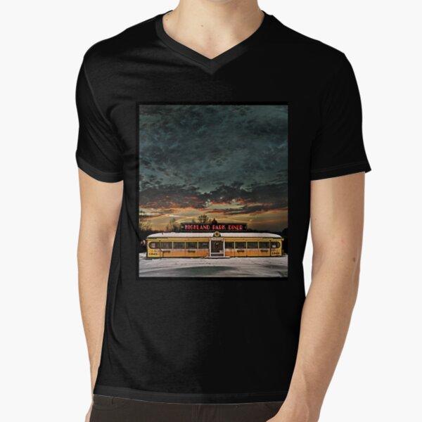 Vicksburg Mississippi Sky over the Highland Park Diner, Rochester V-Neck T-Shirt