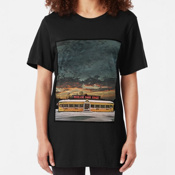 Vicksburg Mississippi Sky over the Highland Park Diner, Rochester Slim Fit T-Shirt