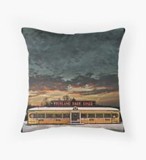 Vicksburg Mississippi Sky over the Highland Park Diner, Rochester Throw Pillow