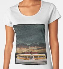 Vicksburg Mississippi Sky over the Highland Park Diner, Rochester Premium Scoop T-Shirt