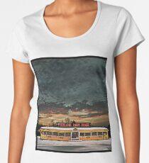 Vicksburg Mississippi Sky over the Highland Park Diner, Rochester Women's Premium T-Shirt
