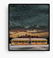 Vicksburg Mississippi Sky over the Highland Park Diner, Rochester Canvas Print