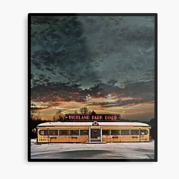 Vicksburg Mississippi Sky over the Highland Park Diner, Rochester Metal Print