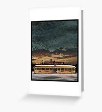 Vicksburg Mississippi Sky over the Highland Park Diner, Rochester Greeting Card