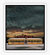 Vicksburg Mississippi Sky over the Highland Park Diner, Rochester Sticker