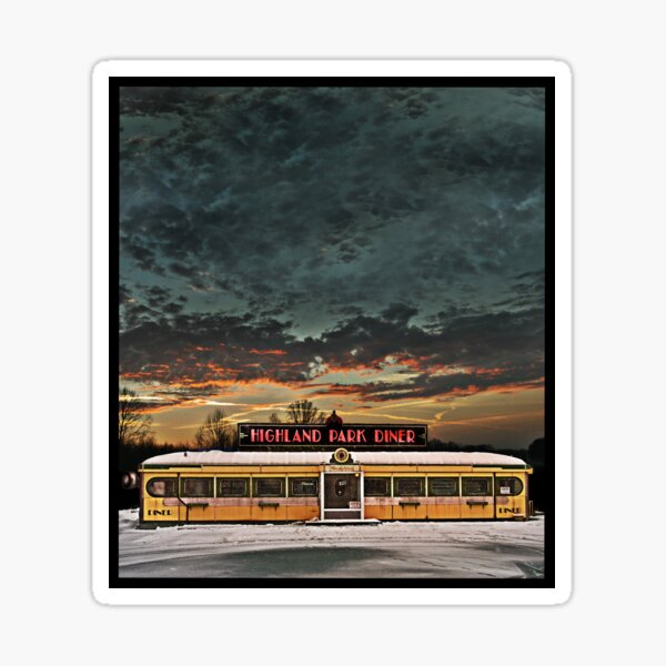 Vicksburg Mississippi Sky over the Highland Park Diner, Rochester Sticker