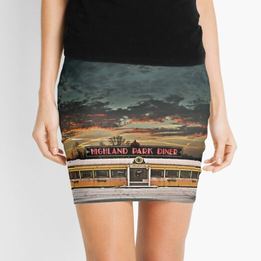 Vicksburg Mississippi Sky over the Highland Park Diner, Rochester Mini Skirt