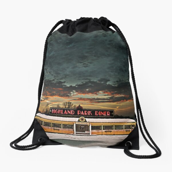 Vicksburg Mississippi Sky over the Highland Park Diner, Rochester Drawstring Bag