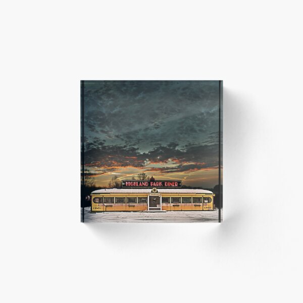 Vicksburg Mississippi Sky over the Highland Park Diner, Rochester Acrylic Block