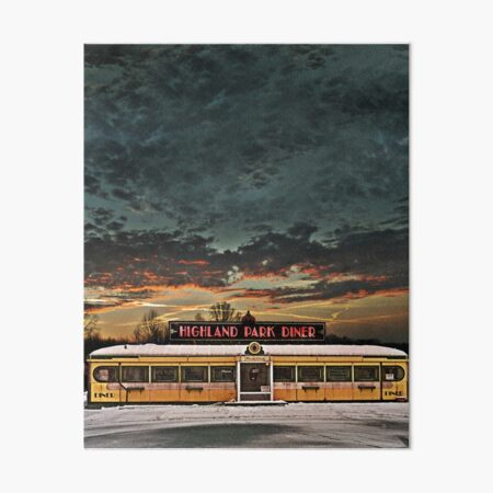 Vicksburg Mississippi Sky over the Highland Park Diner, Rochester Art Board Print