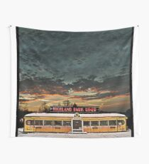 Vicksburg Mississippi Sky over the Highland Park Diner, Rochester Wall Tapestry