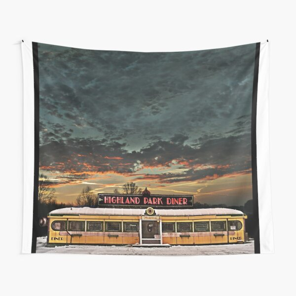 Vicksburg Mississippi Sky over the Highland Park Diner, Rochester Tapestry