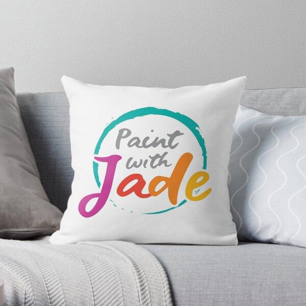 Paint With Jade Pillow Throw Pillow