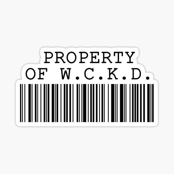 Property of WCKD Sticker