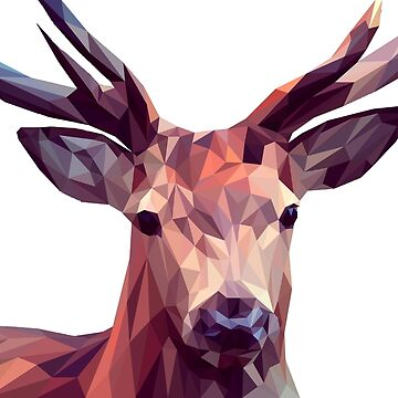 Deer made of polygons by vodanet