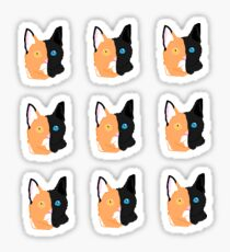 2 in 1 cat stickers and shirts Sticker