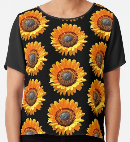 tolle gelbe Blume, Blüte, Sommer, Sonne  Chiffontop