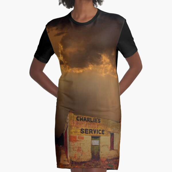 Charlie's Radiator Service, Milan, New Mexico Graphic T-Shirt Dress