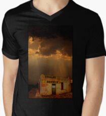 Charlie's Radiator Service, Milan, New Mexico V-Neck T-Shirt