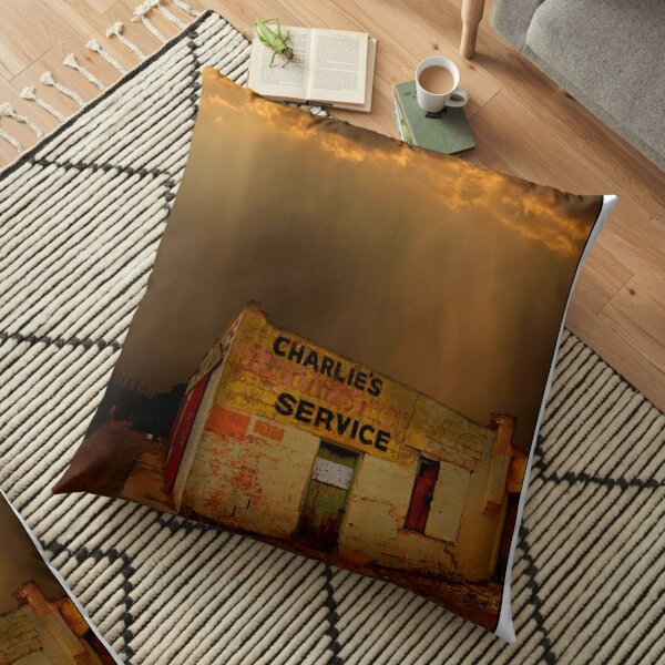 Charlie's Radiator Service, Milan, New Mexico Floor Pillow