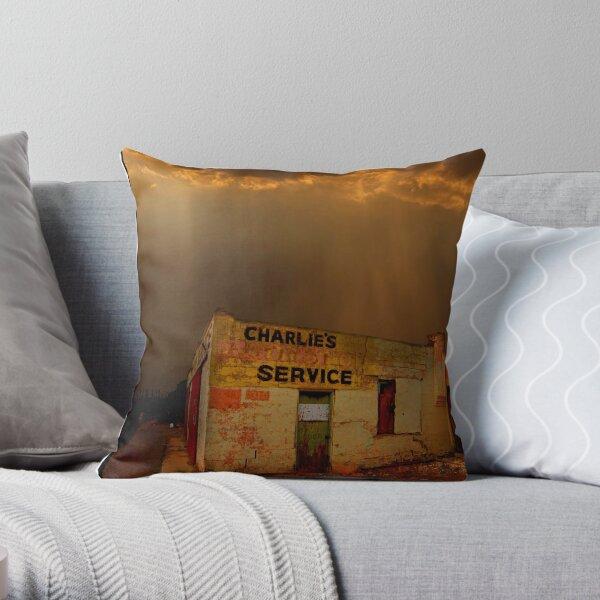 Charlie's Radiator Service, Milan, New Mexico Throw Pillow