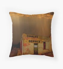 Charlie's Radiator Service, Milan, New Mexico Throw Pillow
