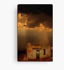 Charlie's Radiator Service, Milan, New Mexico Canvas Print