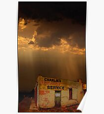 Charlie's Radiator Service, Milan, New Mexico Poster