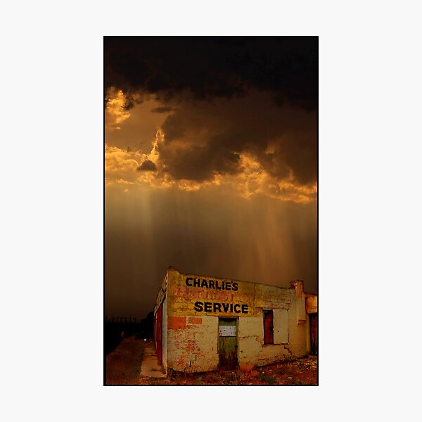 Charlie's Radiator Service, Milan, New Mexico Photographic Print