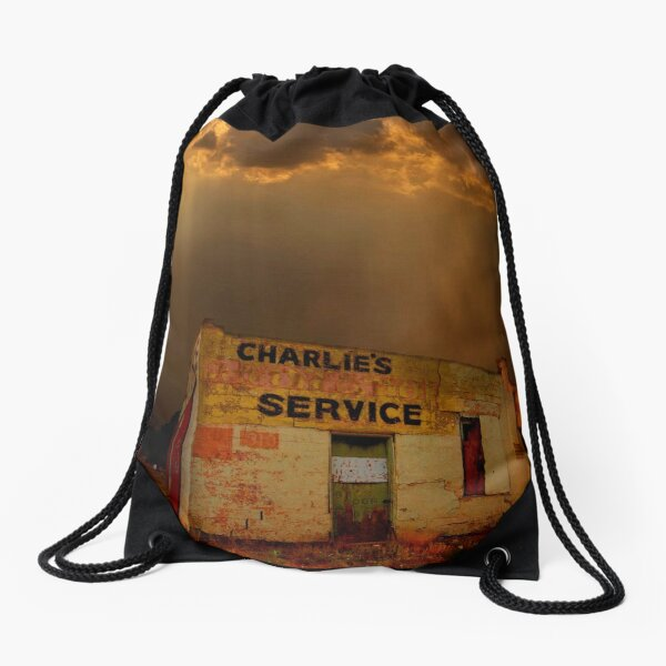 Charlie's Radiator Service, Milan, New Mexico Drawstring Bag