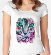 Cat kitten cats Women's Fitted Scoop T-Shirt