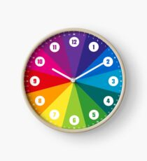 Rainbow learning clock with numbers © hatgirl.de (clock, for children, miniature design) Clock