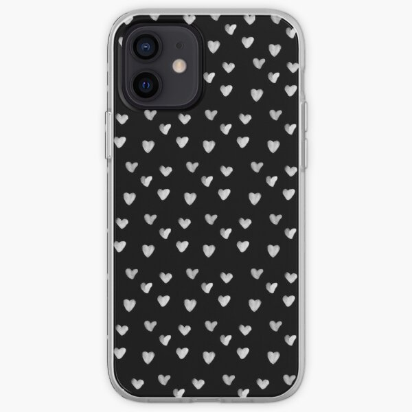 Inked Hearts Pattern iPhone Soft Case