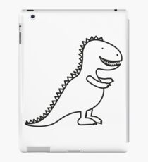 Cute Dinosaur Cartoon Outline iPad Case/Skin