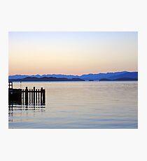 Flathead Lake at Dusk Photographic Print