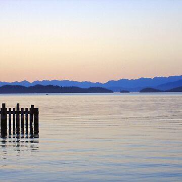 Flathead Lake at Dusk by bobmeyers