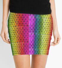 Flower of Life rainbow  Mini Skirt